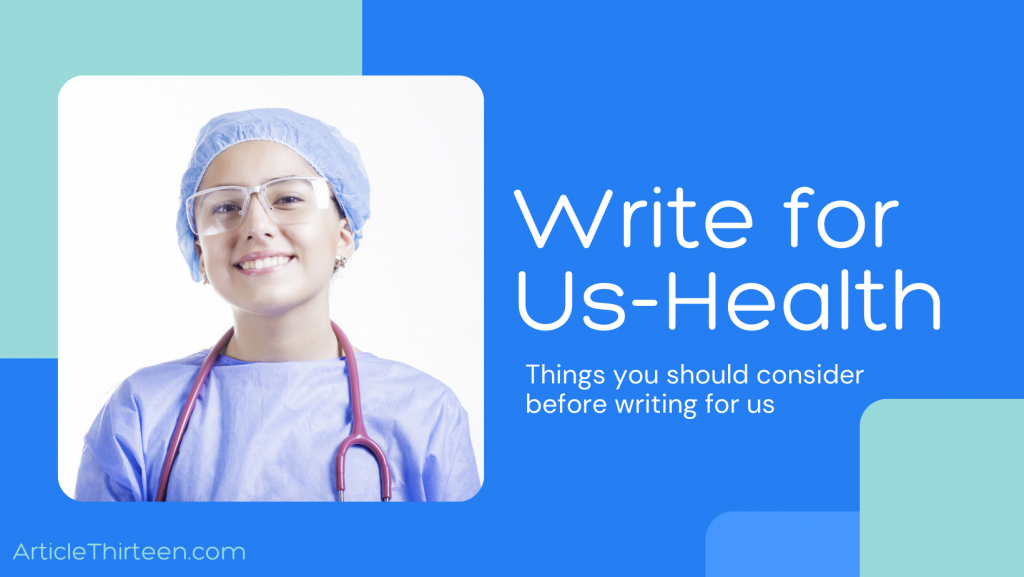 Write For Us HealthCare